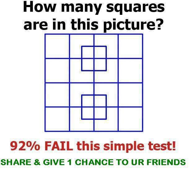 count number of squares